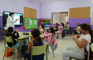 International Youth Day:  Teaching children about infection prevention and control, Spain